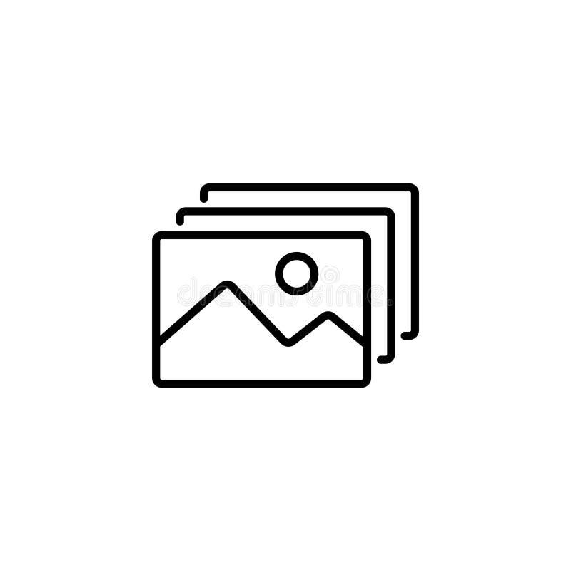 Lijnpictogram Galerij, ontwerp voor website royalty-vrije illustratie
