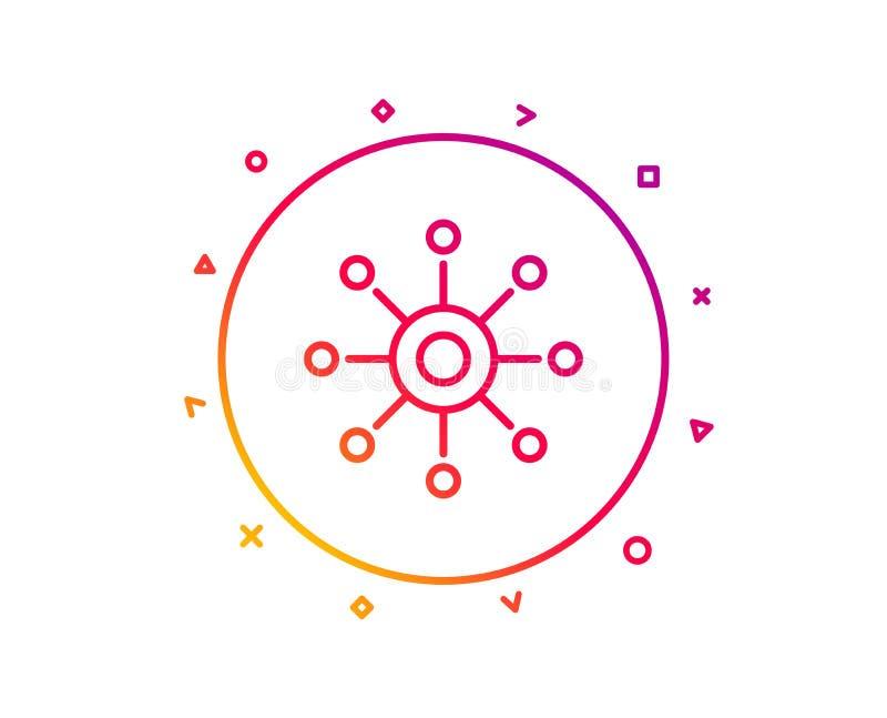 Lijnpictogram met meerdere kanalen Multitasking teken Vector vector illustratie