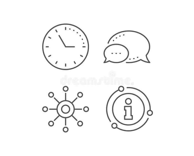 Lijnpictogram met meerdere kanalen Multitasking teken Vector royalty-vrije illustratie