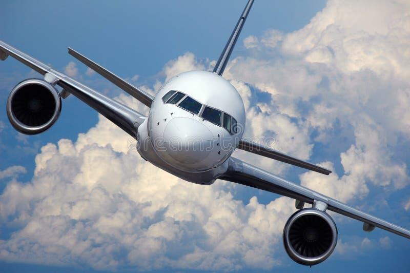 Lijnvliegtuig tijdens de vlucht royalty-vrije stock foto's