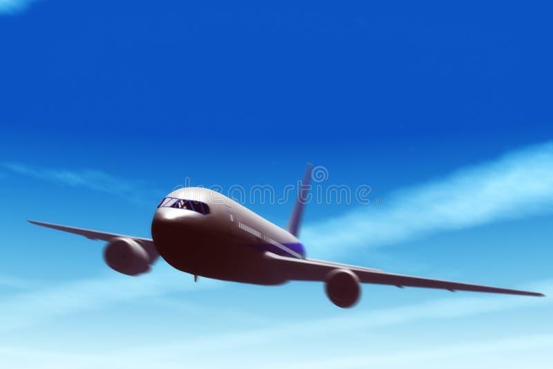 Lijnvliegtuig in vlieg. royalty-vrije stock fotografie
