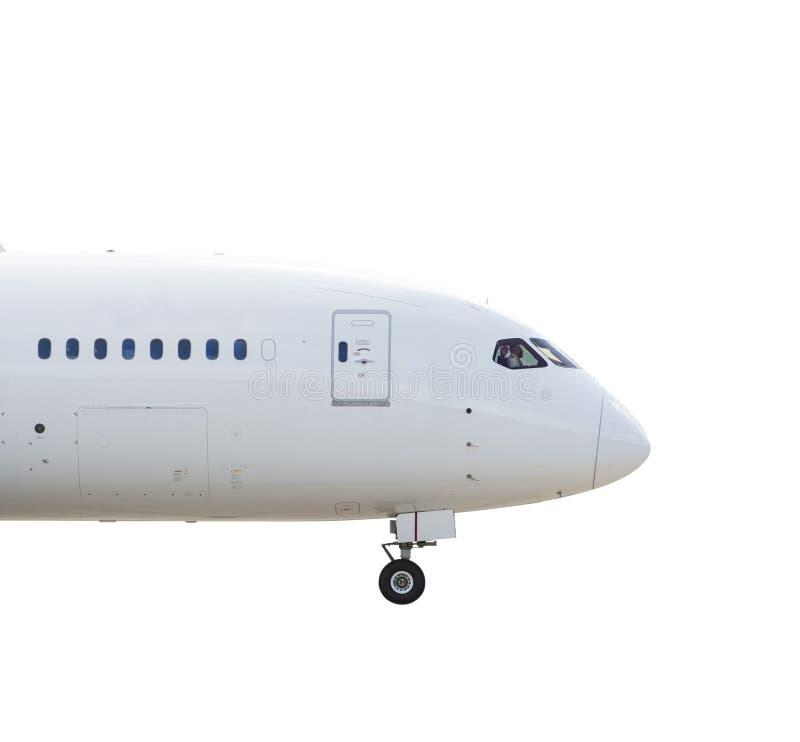 Lijnvliegtuigneus stock afbeeldingen