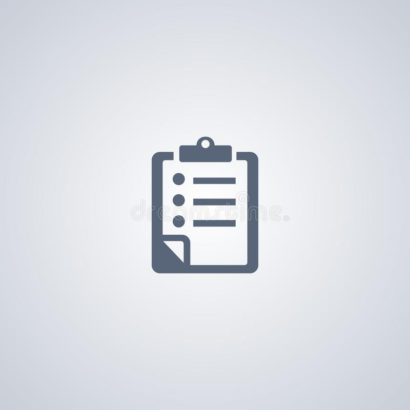 Lijst, controlelijst, vector beste vlak pictogram royalty-vrije illustratie