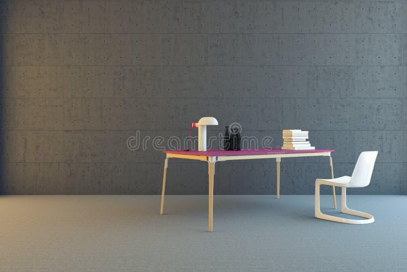 Download Lijst En Stoel In Concrete Ruimte Stock Illustratie - Illustratie bestaande uit luxe, meubilair: 29503124