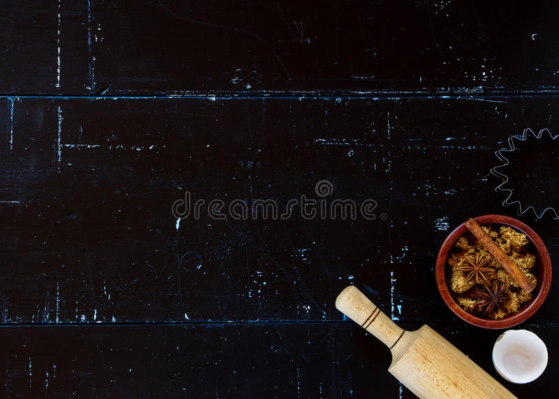 Lijst met bakselingrediënten stock fotografie