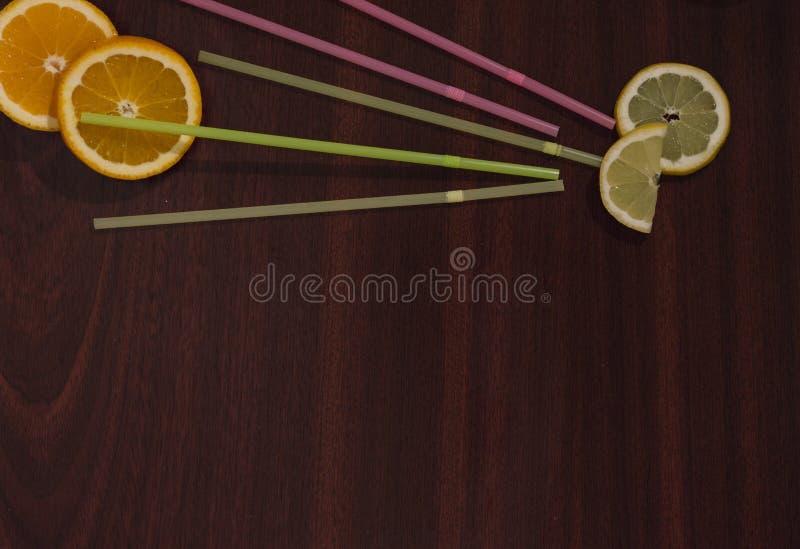 Lijst met limonadeingrediënten stock afbeelding