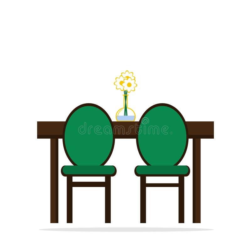 lijst met stoelenpictogram vector illustratie