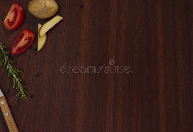 Lijst met voedselingrediënten stock afbeelding