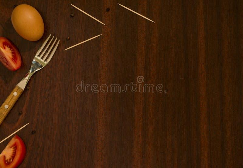 Lijst met voedselingrediënten stock foto
