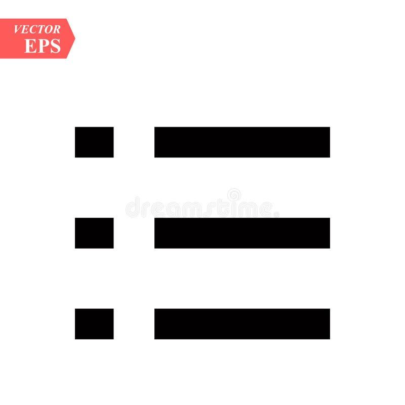 Lijst, ongeordend pictogram op whieachtergrond De vlakke pictogrammen van de kogellijst vector illustratie