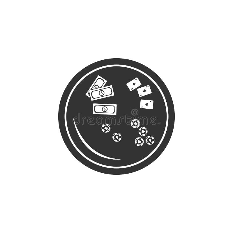 Lijst voor kaartspelspictogram Element van luchthavenpictogram voor mobiele concept en webtoepassingen De gedetailleerde Lijst vo vector illustratie