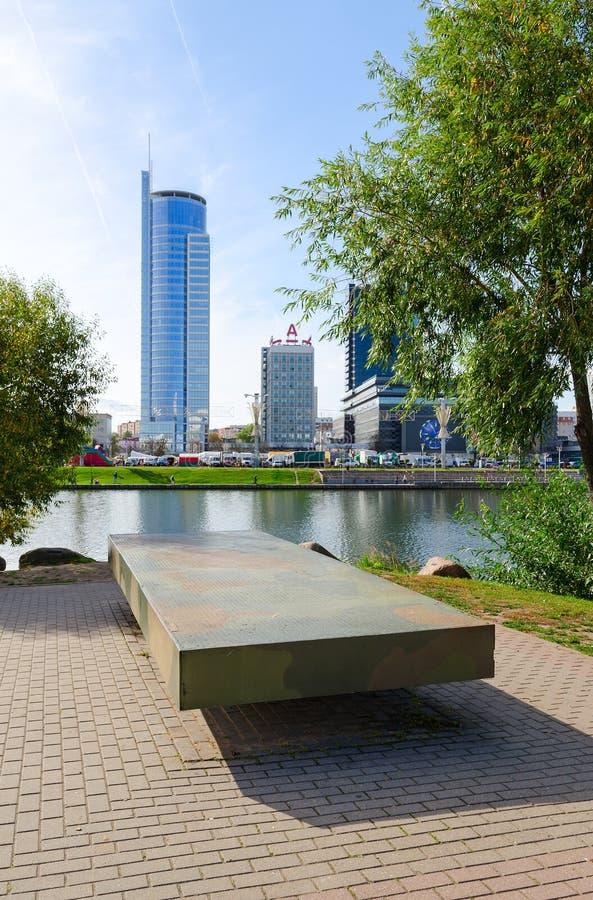 Lijstgeheugen op Eiland van Scheuren, Minsk, Wit-Rusland royalty-vrije stock afbeelding