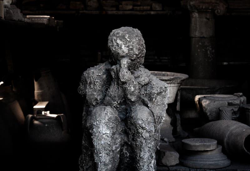 Lik som fossiliseras av Pompeii royaltyfri bild
