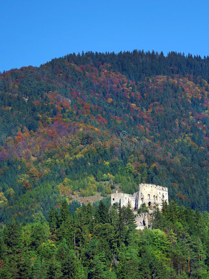 Download Likava Castle Ruin Hidden In Deep Forest Stock Photo - Image: 27020544