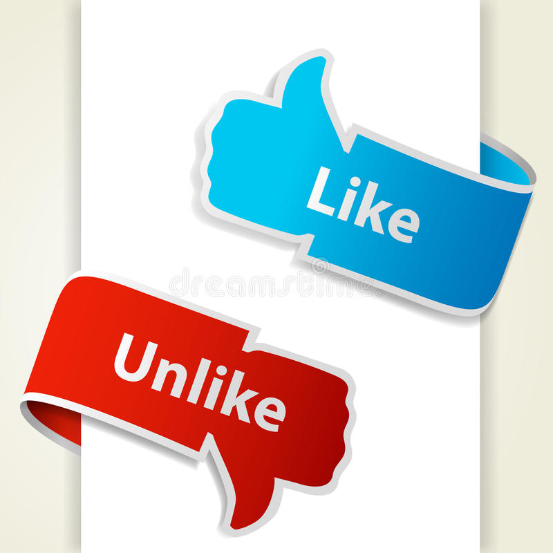 Free Like And Unlike Icons Stock Photography - 24135522