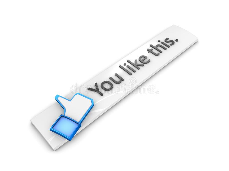 Download Like button stock illustration. Image of confirm, permission - 18247413