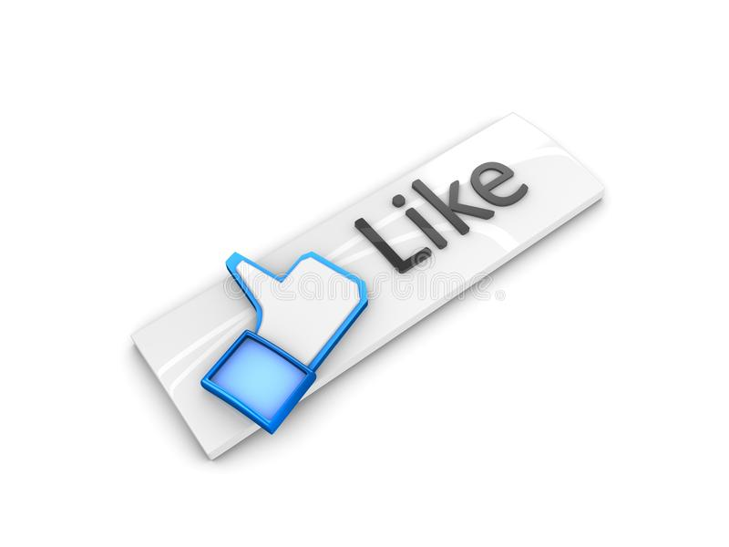 Download Like button stock illustration. Image of excellent, button - 18247427
