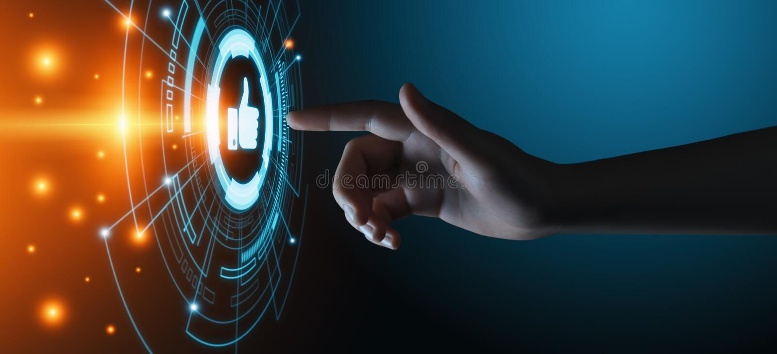 Like button. Business Internet Social Media Technology Network Concept.  royalty free stock photo