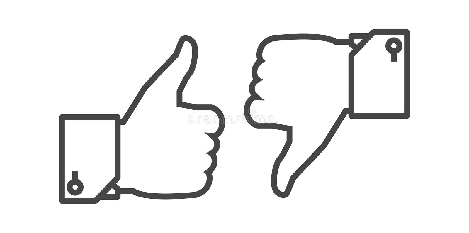 Like and Dislike button royalty free stock photos