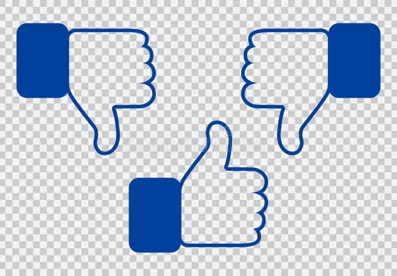Like and Dislike Icon. vector illustration