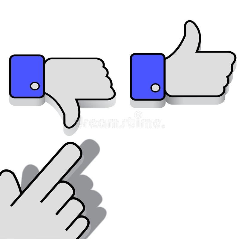 Like and Dislike royalty free illustration