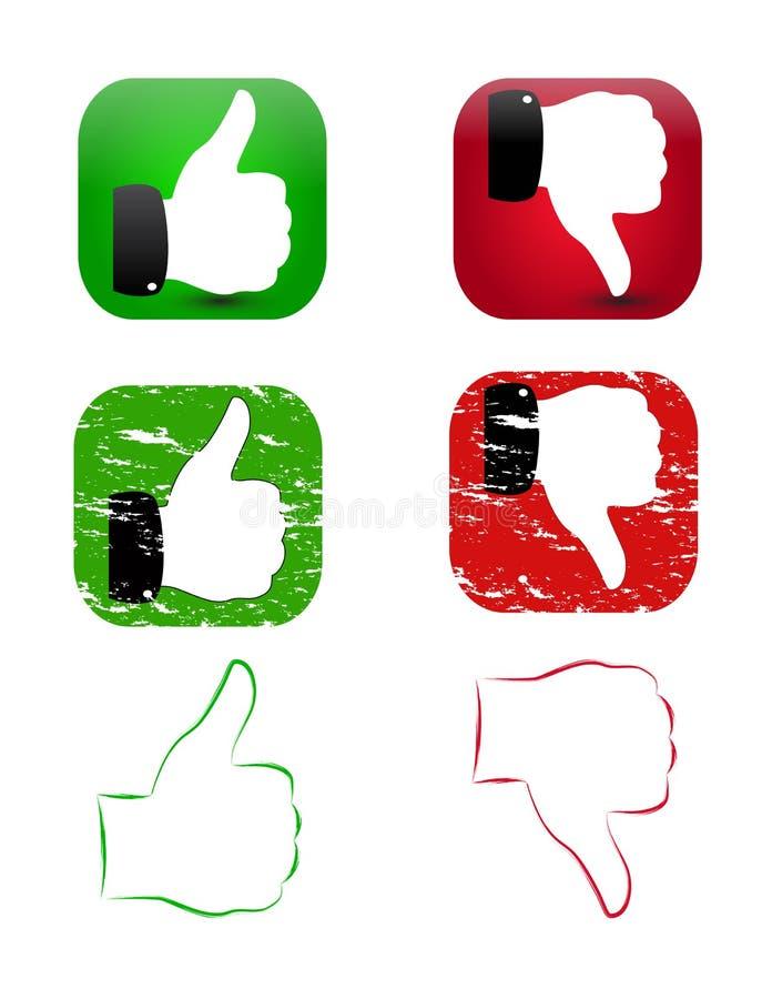 Download Like and dislike set stock illustration. Image of like - 23693664