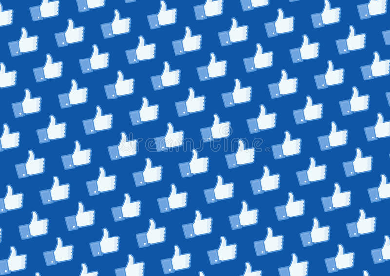 Like Facebook logo wall. Wall texture with facebook like button