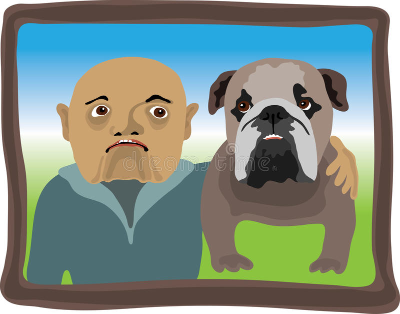 Download Like Father Like Son stock vector. Image of picture, bulldog - 29186259