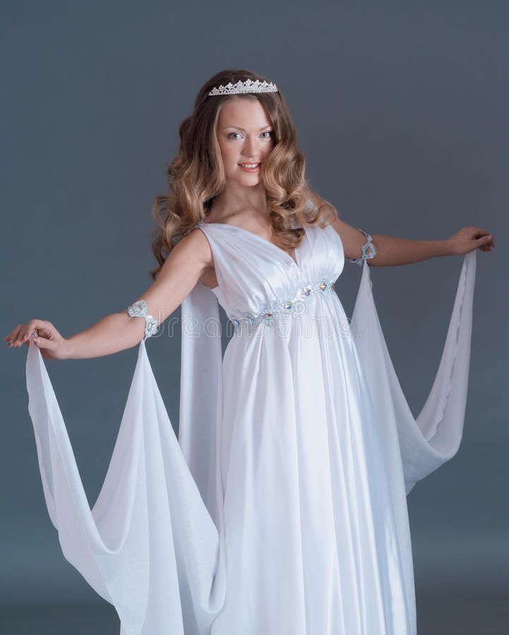 Like goddess in diadem stock photography