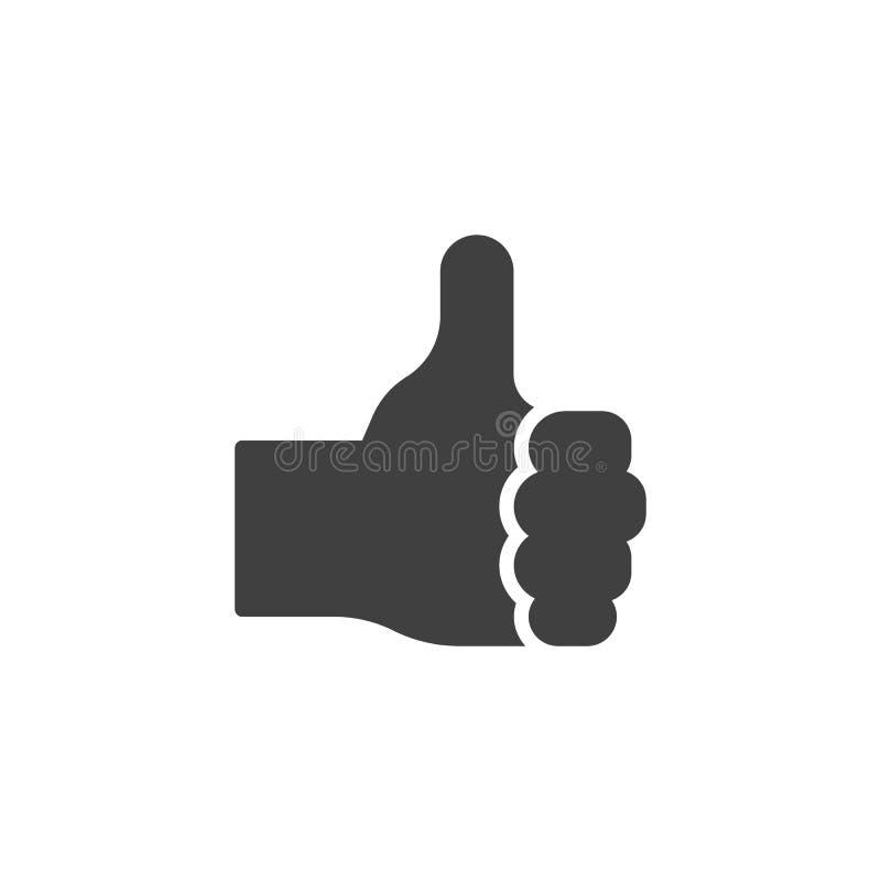 Like, hand gesture vector icon stock illustration
