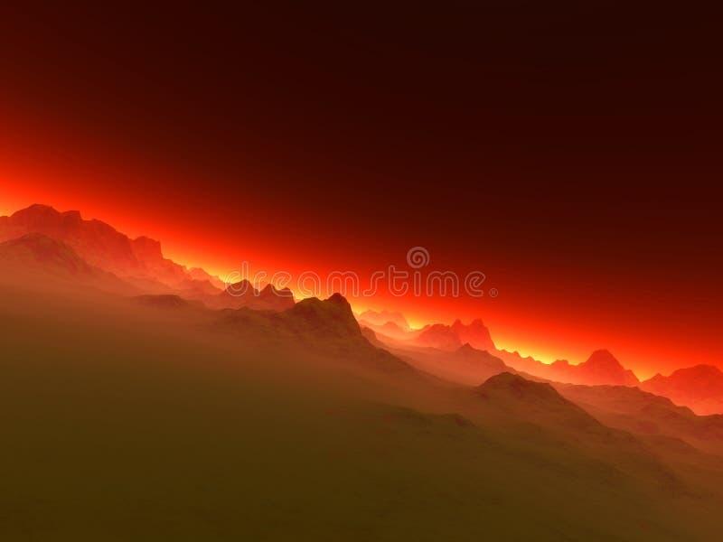 Like Hell. A creepy landscape / Horizon