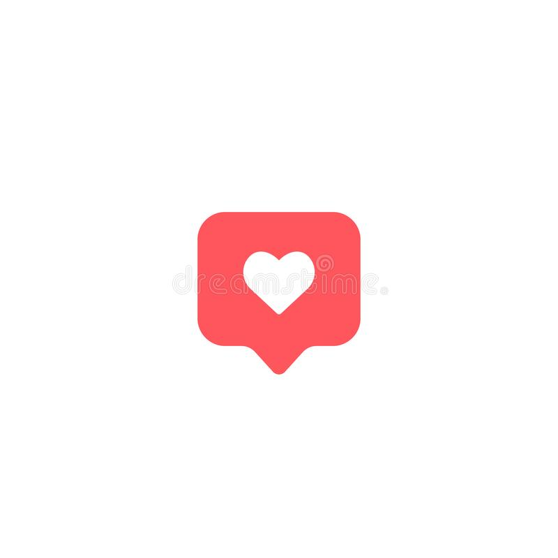 Like icon heart comment symbol. vector illudtration on white background EPS10 stock illustration