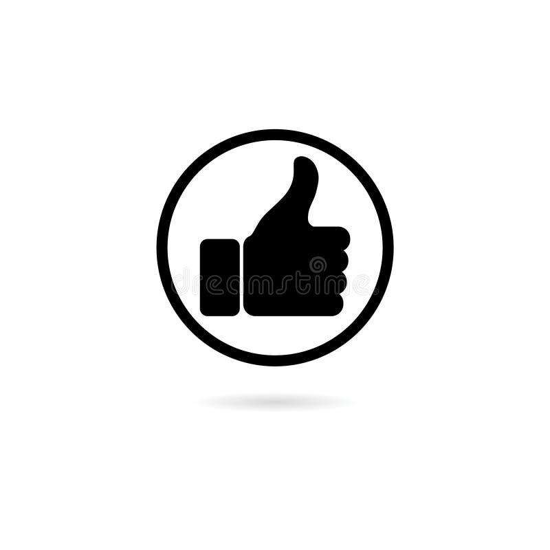 Like icon isolated on white background. Simple vector logo stock illustration