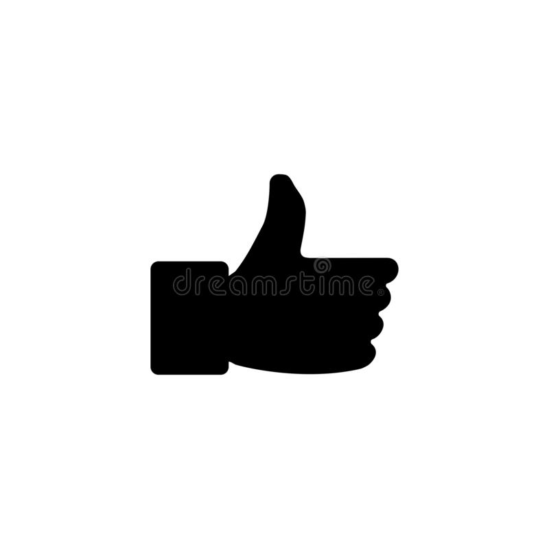 LIke icon. Social  media button. Like, review, hand, positive, icon, sign, symbol, feedback, customer, line, good, up, ok, vector, social, set, web, internet royalty free illustration