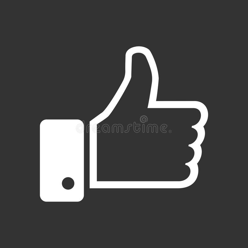 Like icon vector illustration in flat style isolated on black background. stock illustration