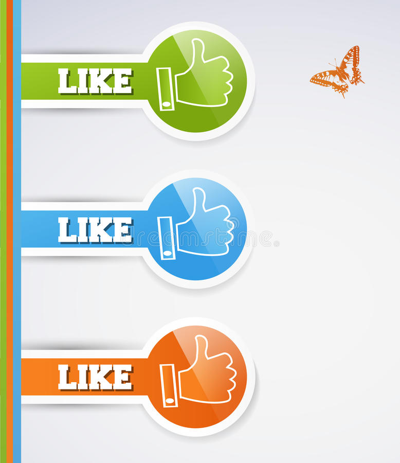 Download Like icons stock vector. Image of icon, down, hand, group - 24910905