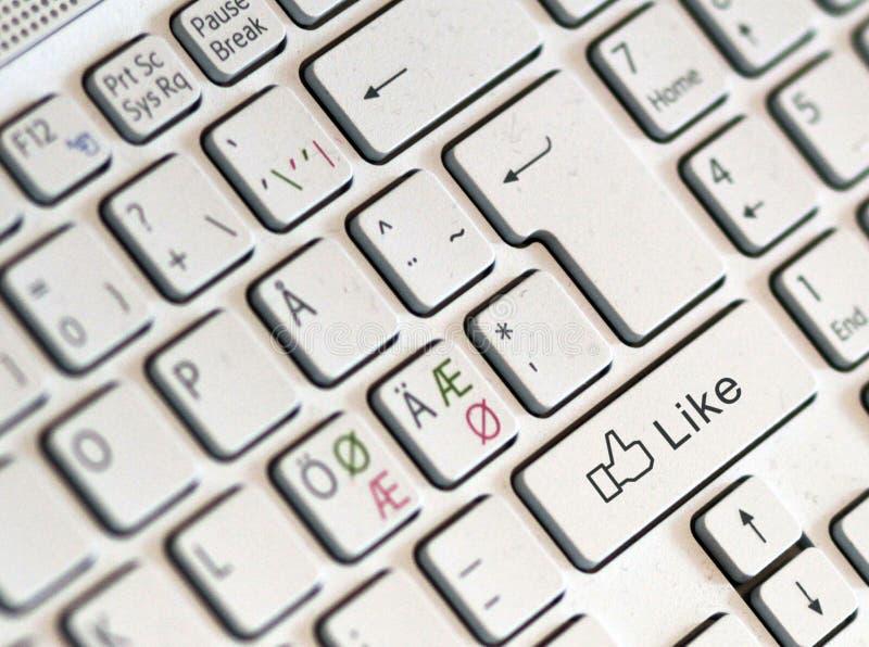 Like key. On computer keyboard stock photos