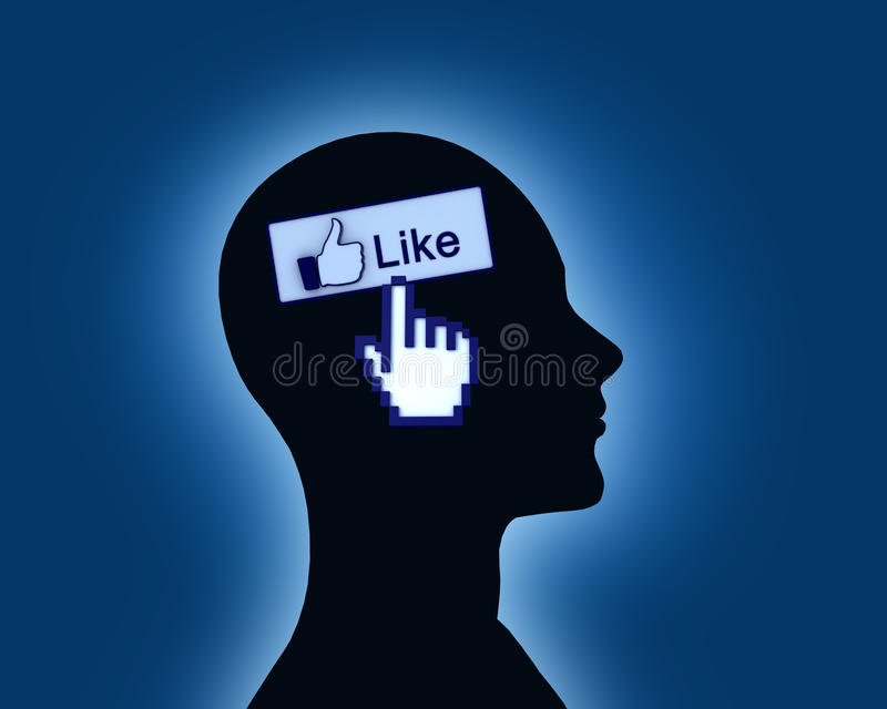 Like On Mind royalty free stock images