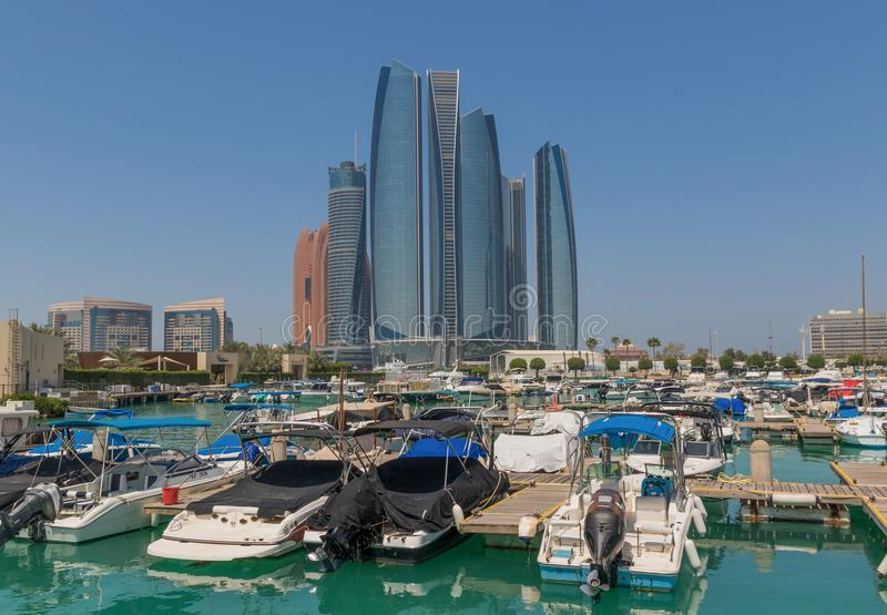 Abu Dhabi: a view from the roof stock photography