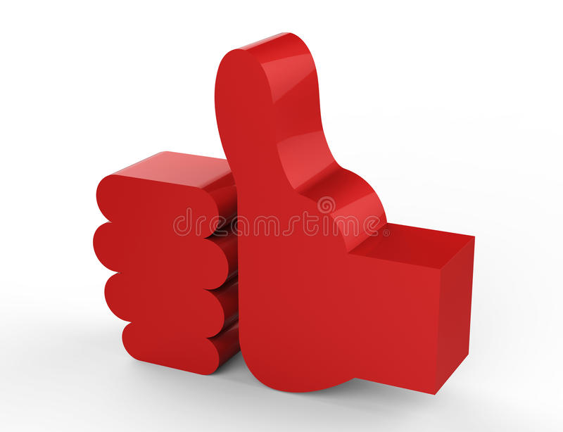 Download Like red 3D stock illustration. Image of human, choice - 30408519