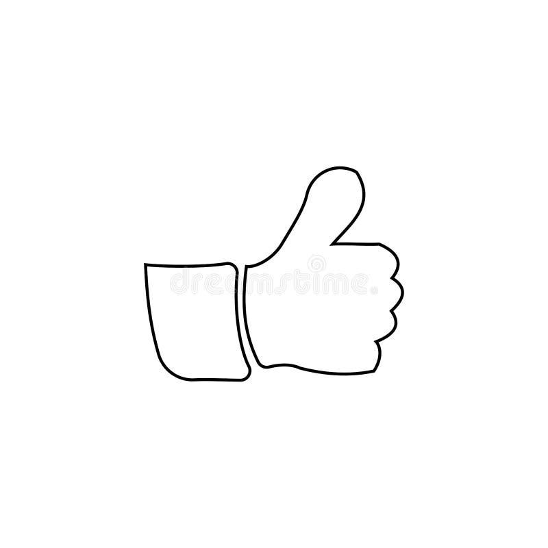 LIke icon. Social  media button. Like, review, hand, positive, icon, sign, symbol, feedback, customer, line, good, up, ok, vector, social, set, web, internet vector illustration