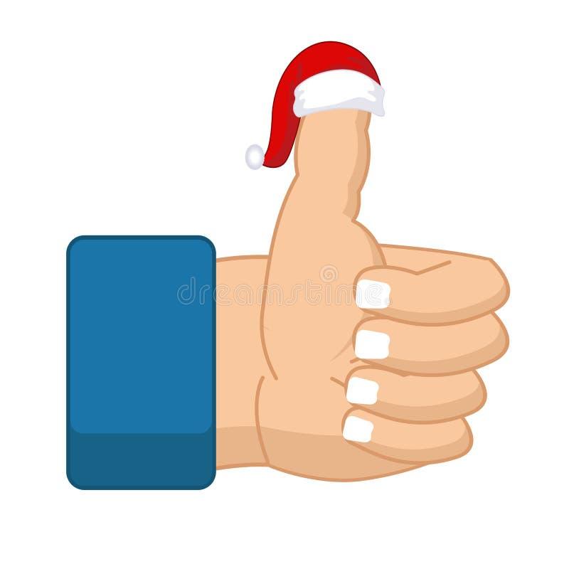 Like Santa Claus Thumb Up Symbol All Right Success Gesture R