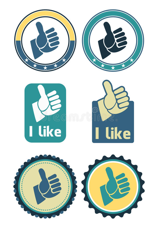 Download Like seal stock vector. Image of hand, blue, message - 24249296