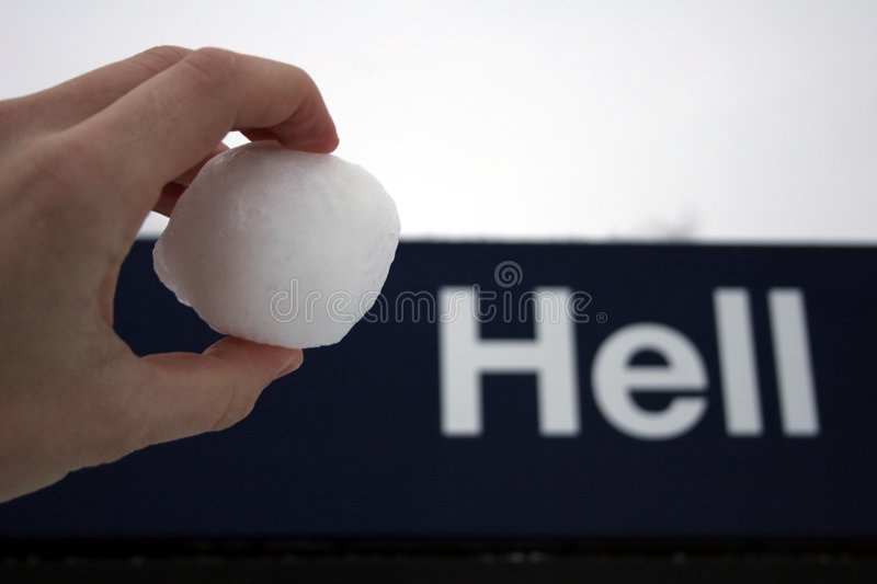 Like a snowball in hell royalty free stock image