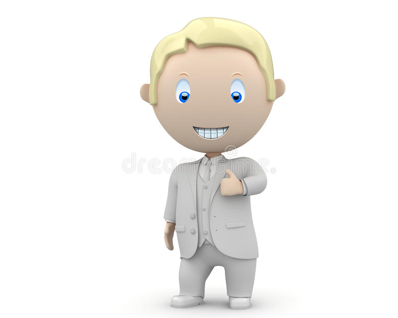 Download Like It! Social 3D Characters Stock Illustration - Image: 23325807
