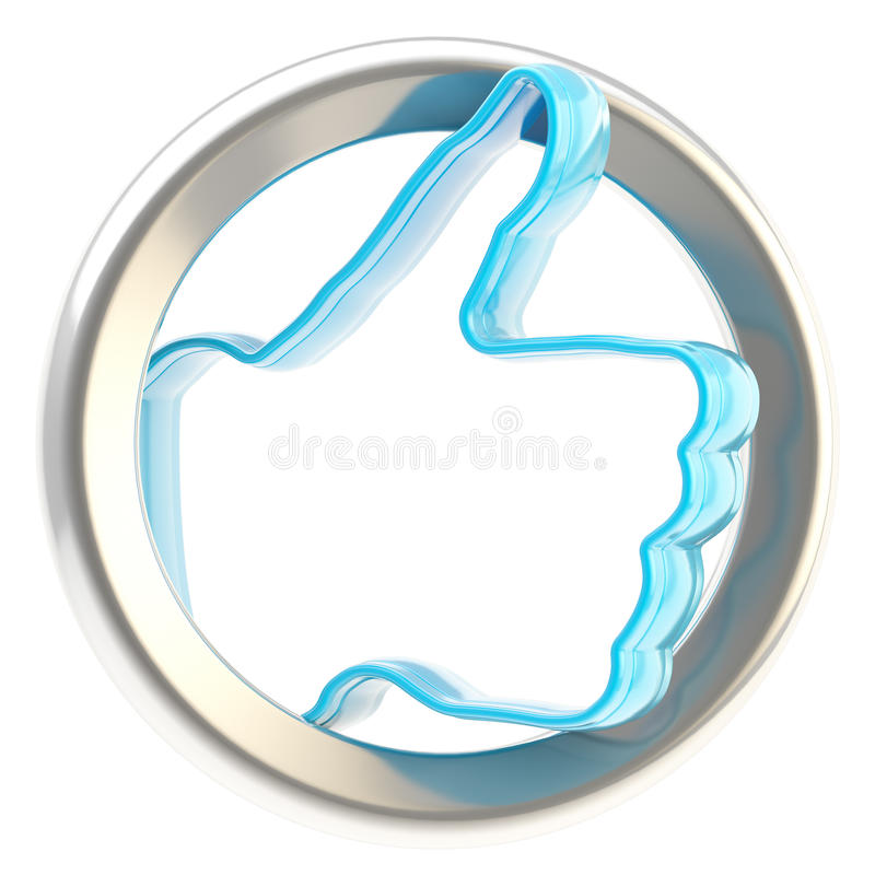Like Social Button Isolated Stock Photo