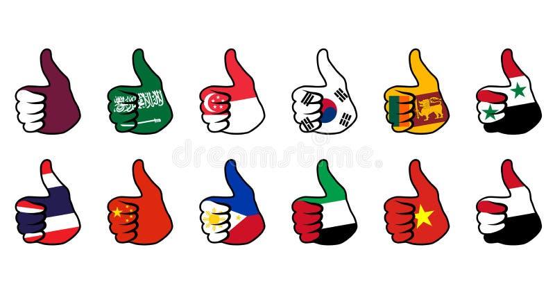Download Like symbol with flag stock vector. Illustration of saudi - 29520609