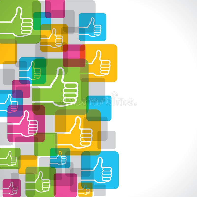 Like Or Thumbs Up Symbol Background Stock Vector Illustration Of