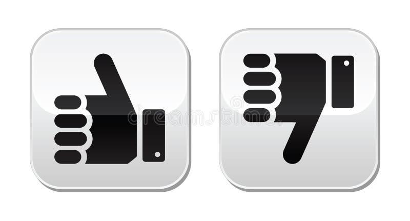 Download Like it Unlike buttons stock illustration. Illustration of dislike - 26100609