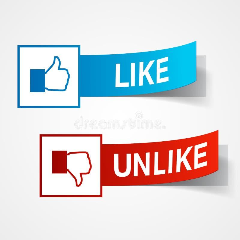Download Like and unlike symbols stock vector. Image of blue, illustration - 23575090